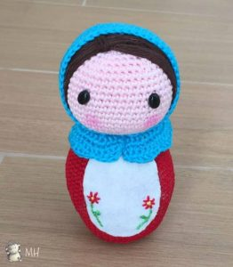 Matrioska | Crochet toys, Crochet videos | 300x262